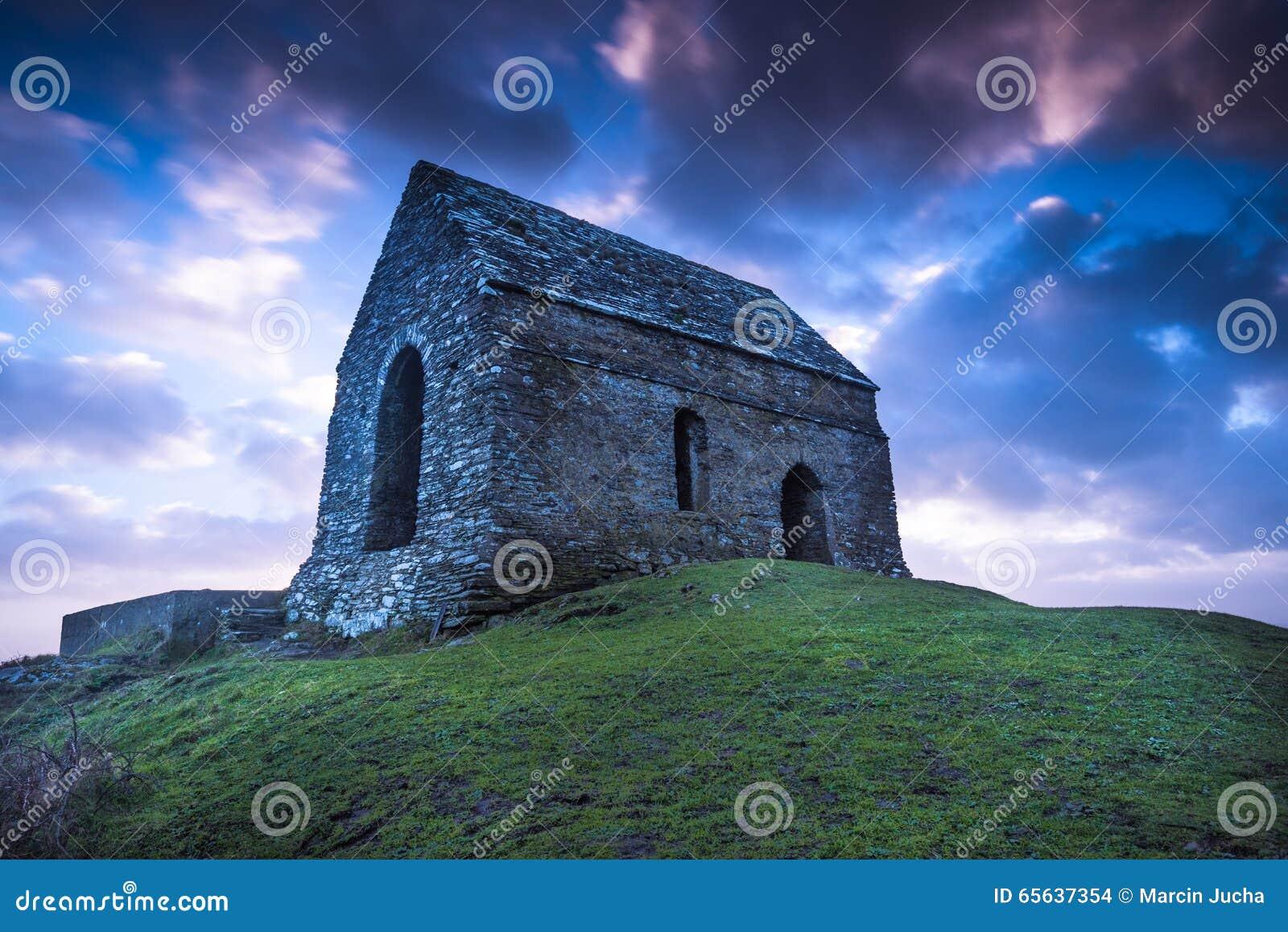 Chapelle isolée principale de Rame dans les Cornouailles, R-U