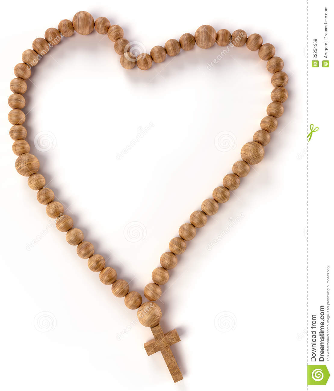 Chaplet Or Rosary Beads Heart Shape Royalty Free Stock Photos - Image ...