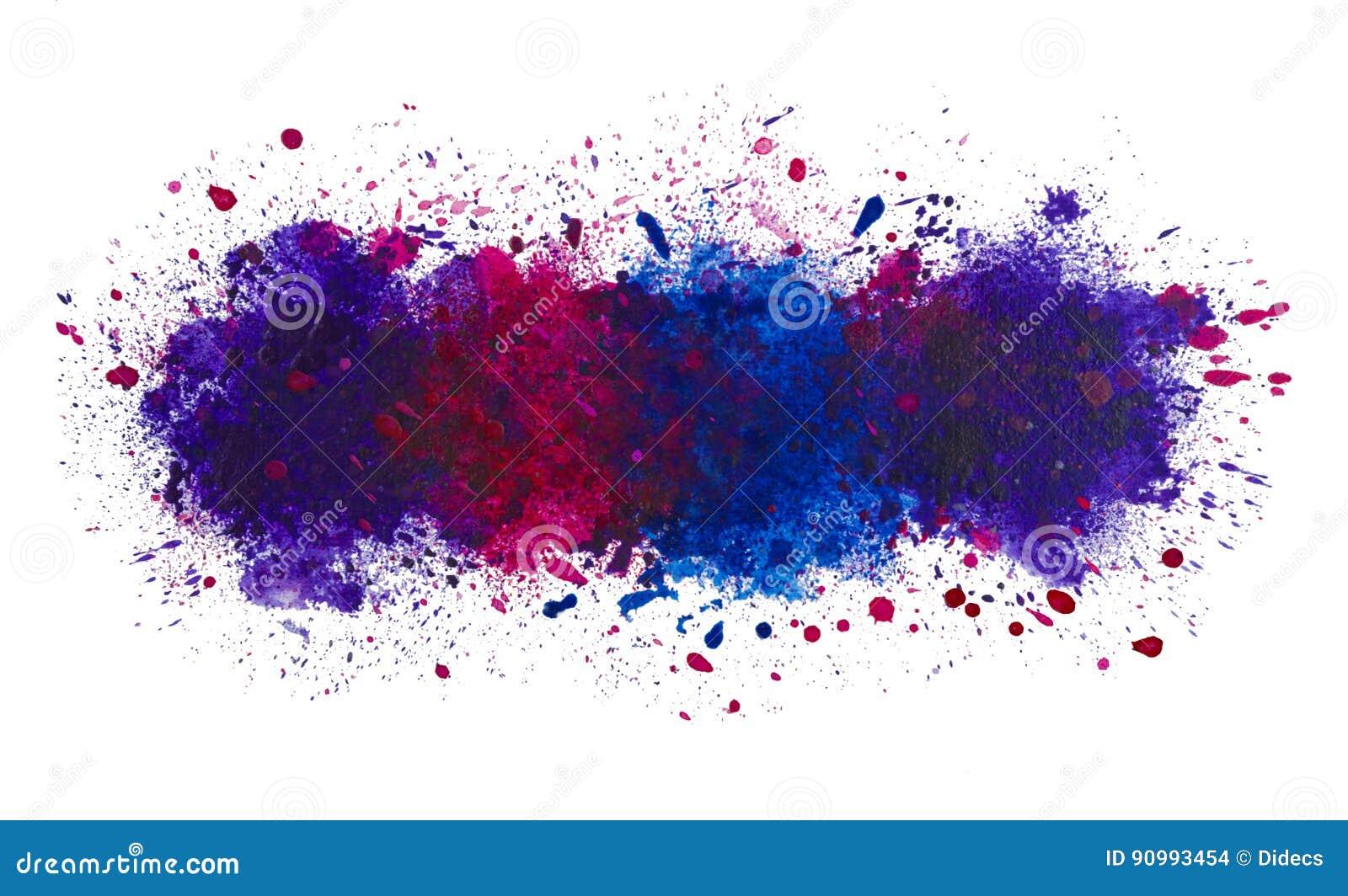 Chapoteo artístico abstracto de la acuarela del fondo de la pintura, el océano profundo