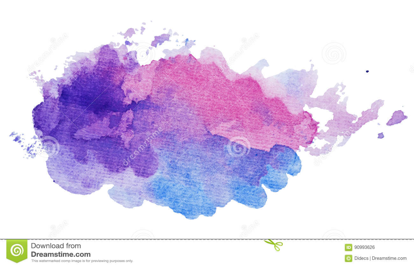 Chapoteo artístico abstracto de la pintura en la forma de la nube