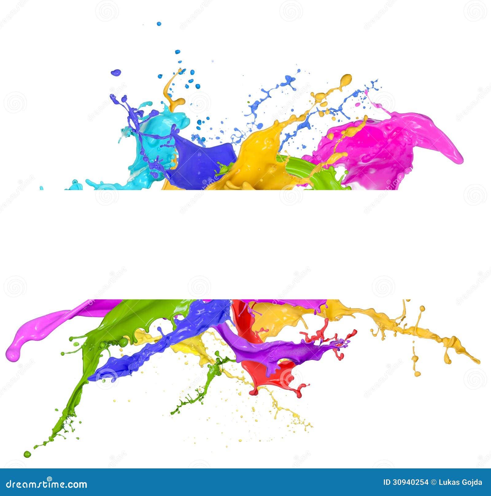 Chapoteo colorido de la pintura