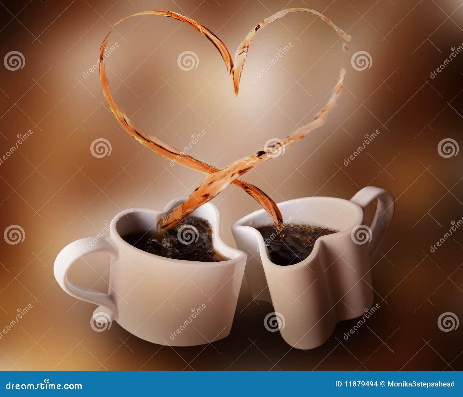 Chapoteo del amor del café