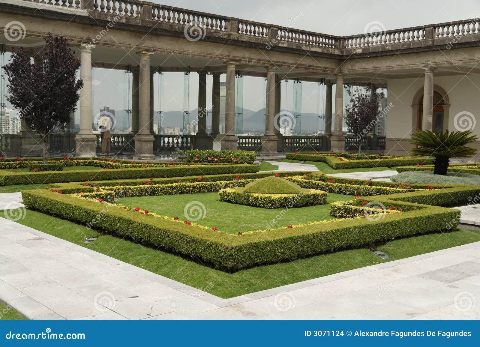 Chapultepec Castle Garden Mexico City