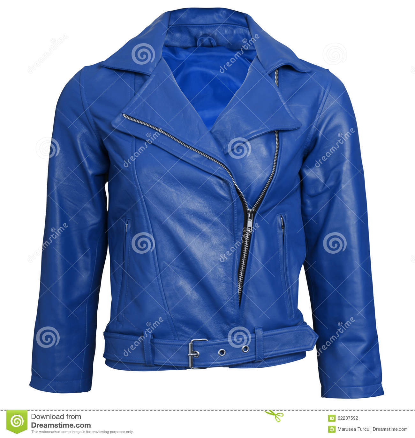 b4a240a1653fb Chaqueta de cuero azul foto de archivo. Imagen de otoño - 62237592