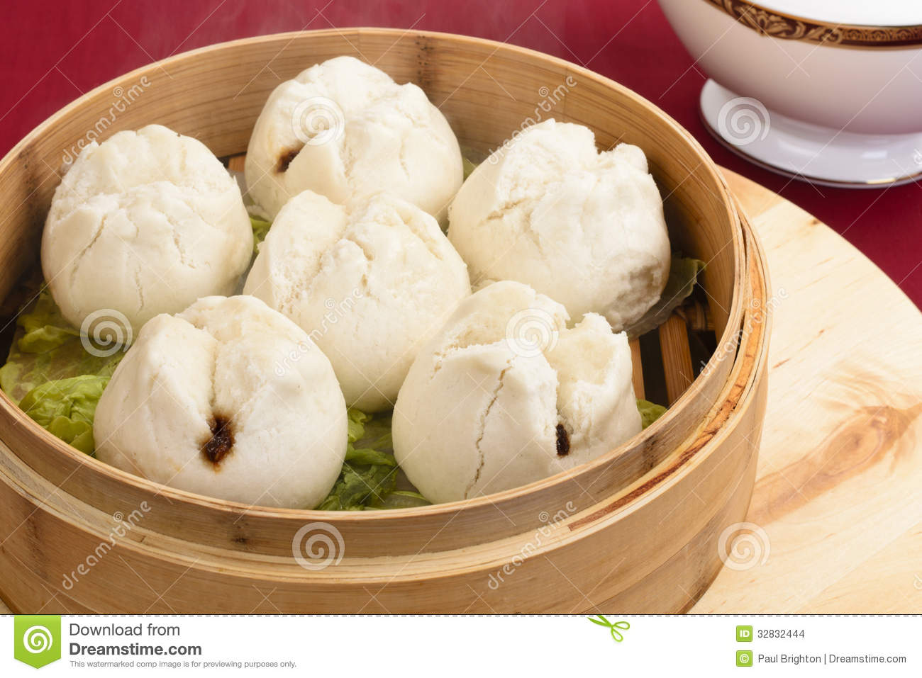 Char Siu Bao - Chinese steamed bun filled with bbq pork - Cantonese ...