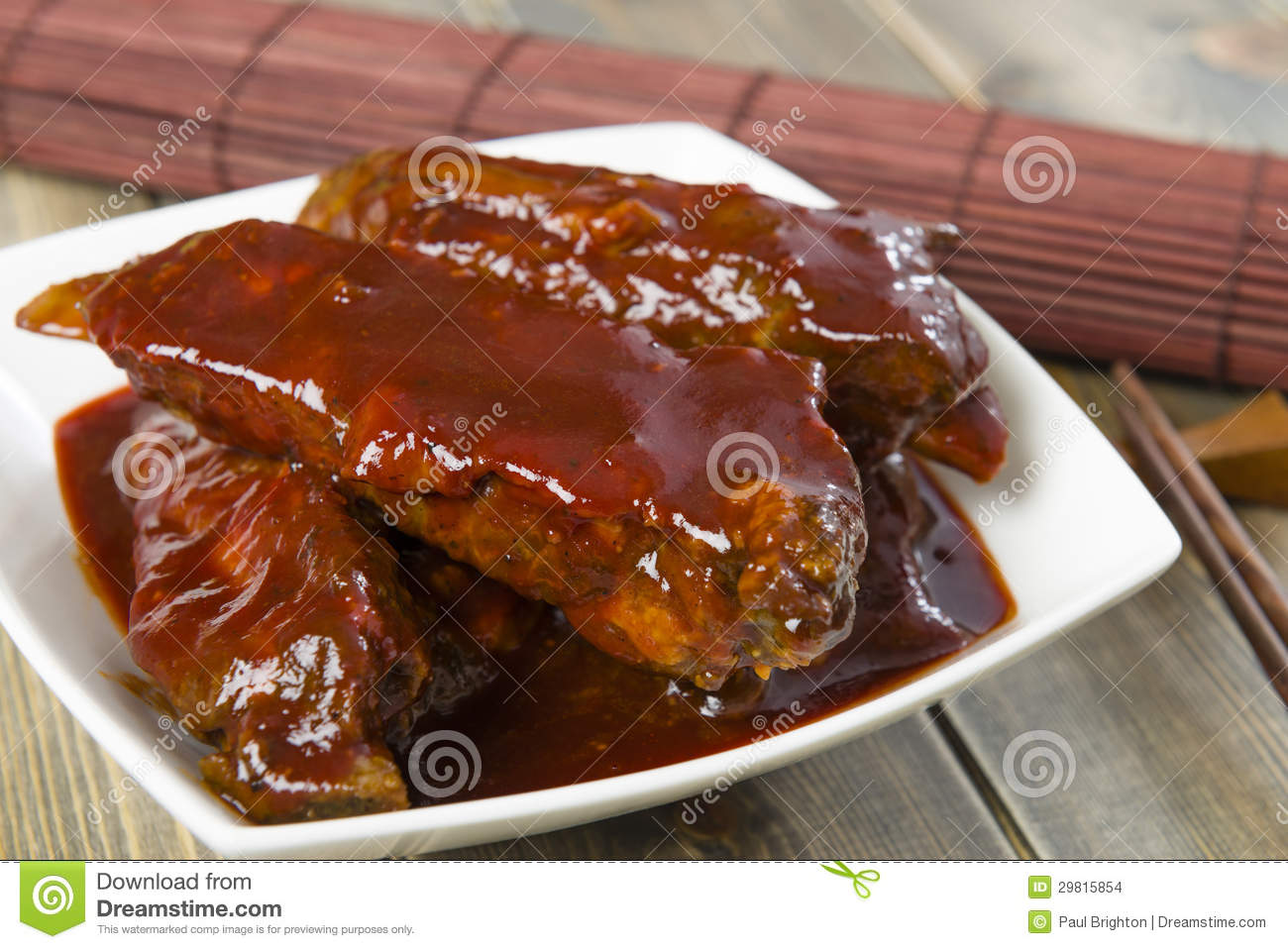 Char Siu - Chinese sticky pork spare ribs roasted with a sweet and ...