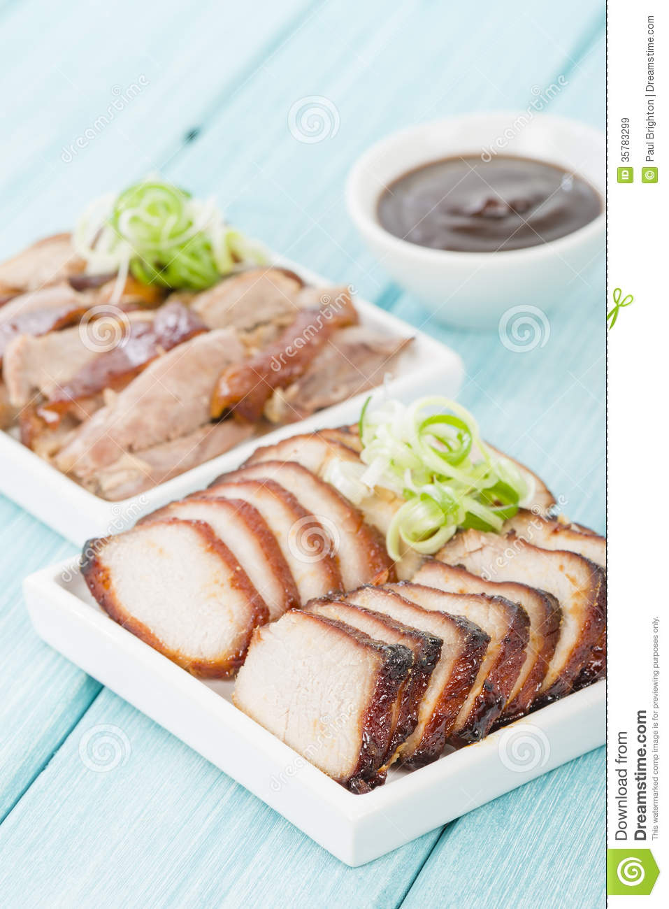 Char Chinese Dipping Duck Meat Peking Pork Roasted Sauce