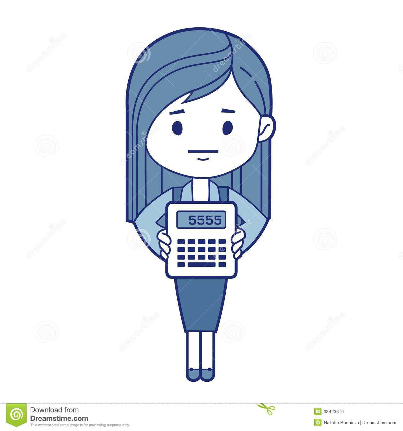 Character Accountant With Calculator Stock Vector - Image ...