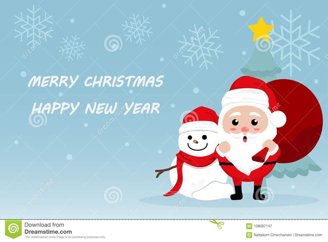 Character Cartoon Cute Christmas Day , Merry Christmas Happy New ...