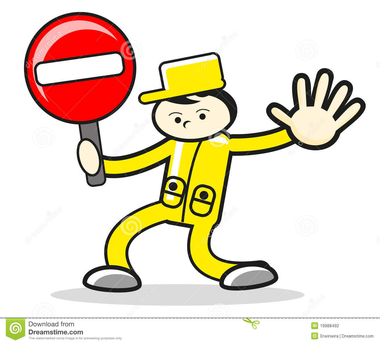 character cartoon man stop sign stock vector illustration of rh dreamstime com stop sign cartoon picture stop sign cartoon black and white