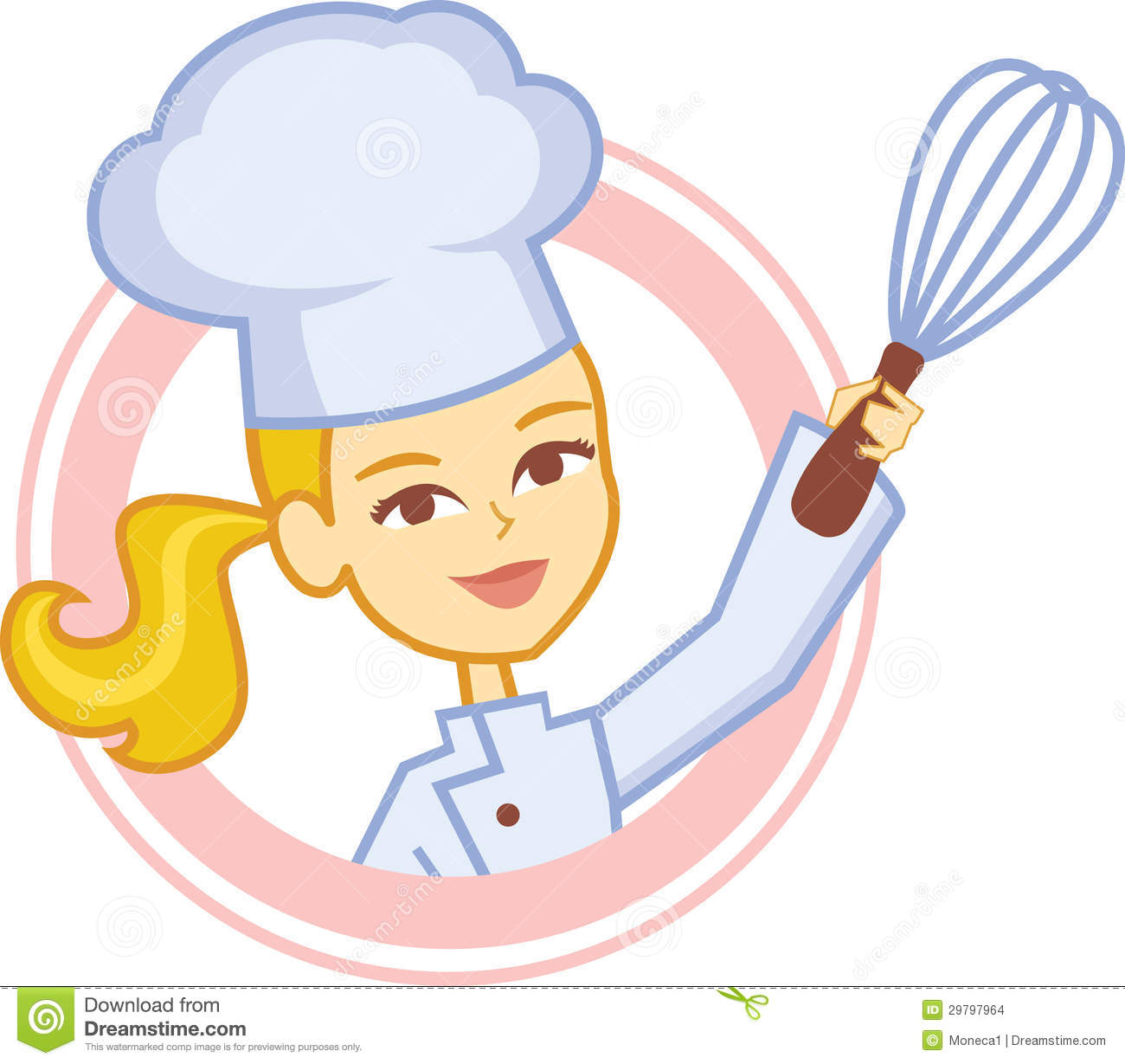 Girl Chef Clipart Bakery culinary girl chef