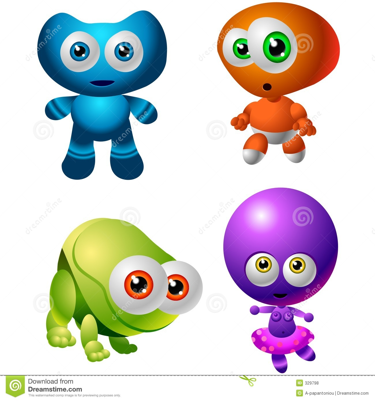 Character Design Collection 014: Baby Aliens