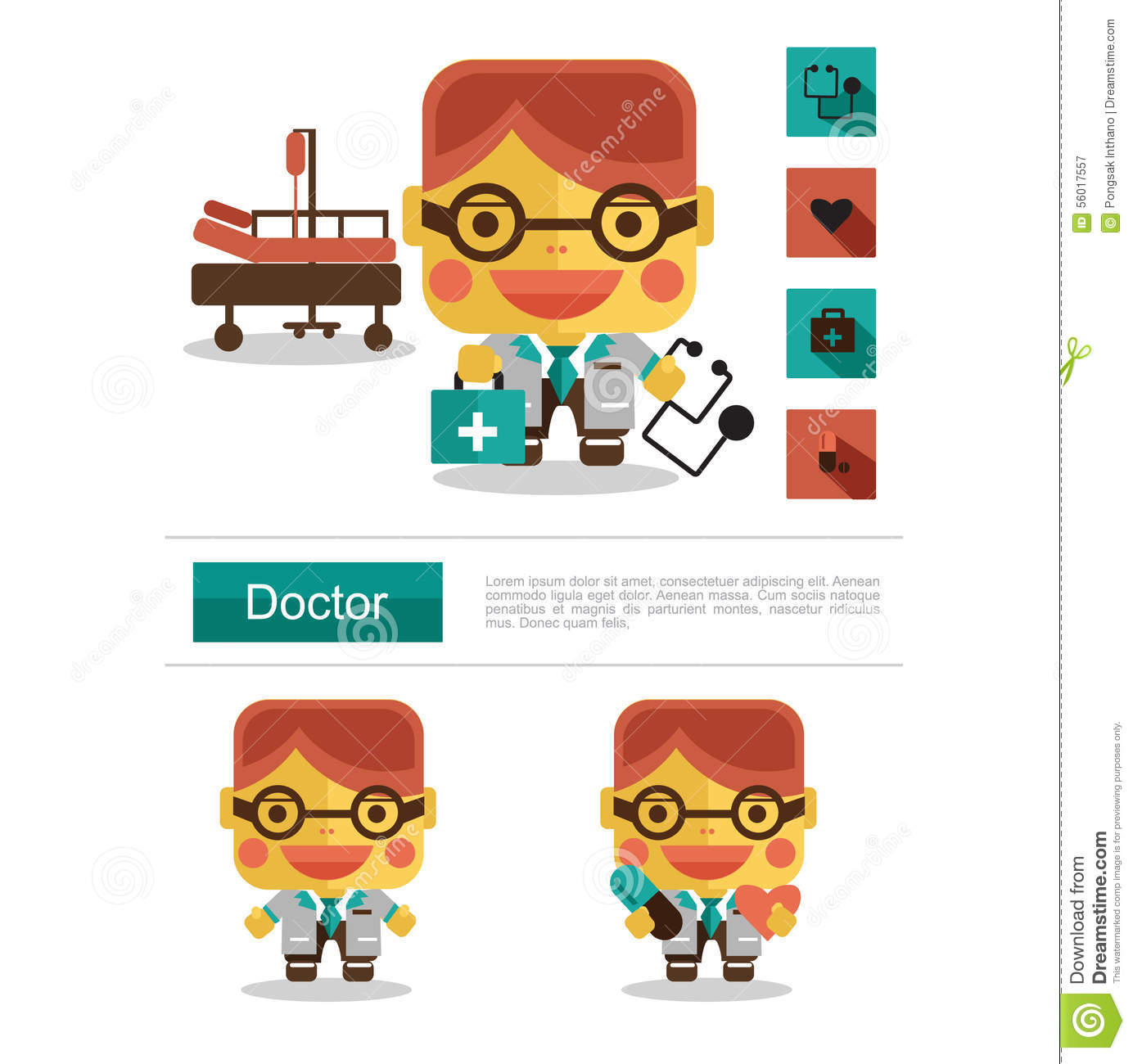 character design doctor career icon vector white background character design doctor career icon vector white background