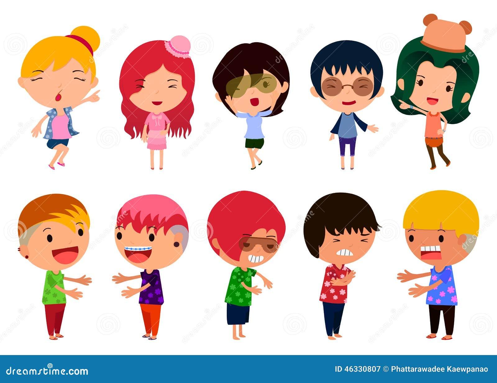 Character Design Set : Character design set stock vector illustration of