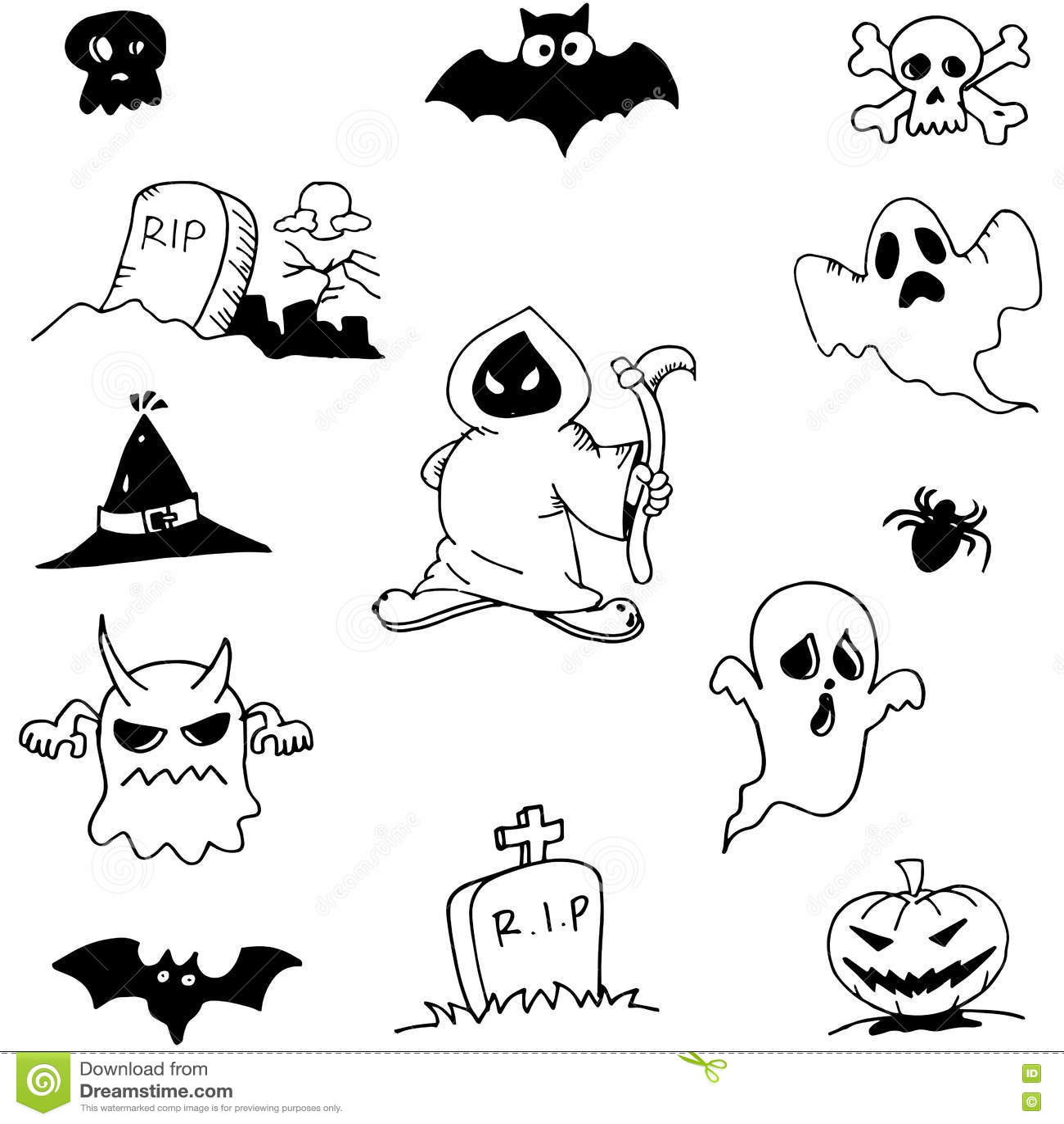 Character Ghost Halloween In Doodle