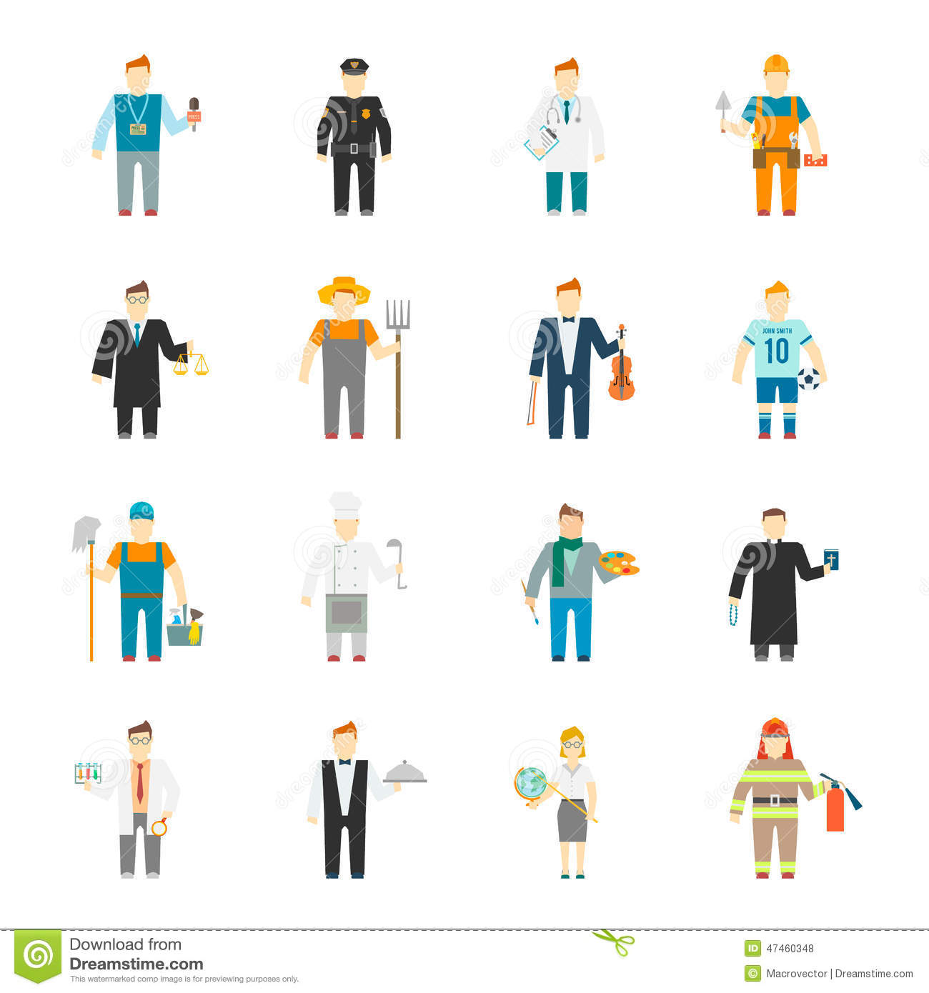 Character Design College Major : Character icon flat stock vector image