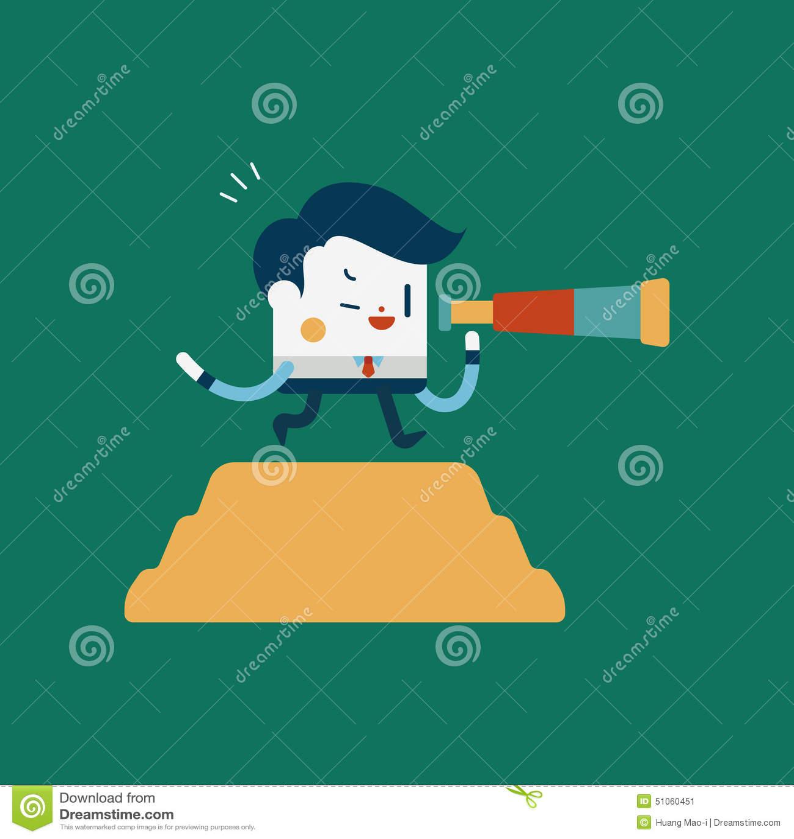 Cartoon Characters Looking Forward : Character illustration design businessman concept look