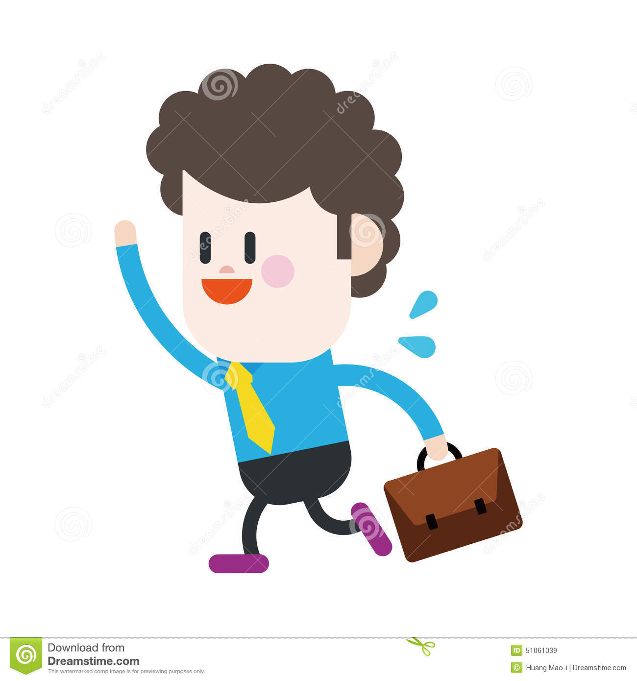Character Design Work : Character illustration design businessman going to work