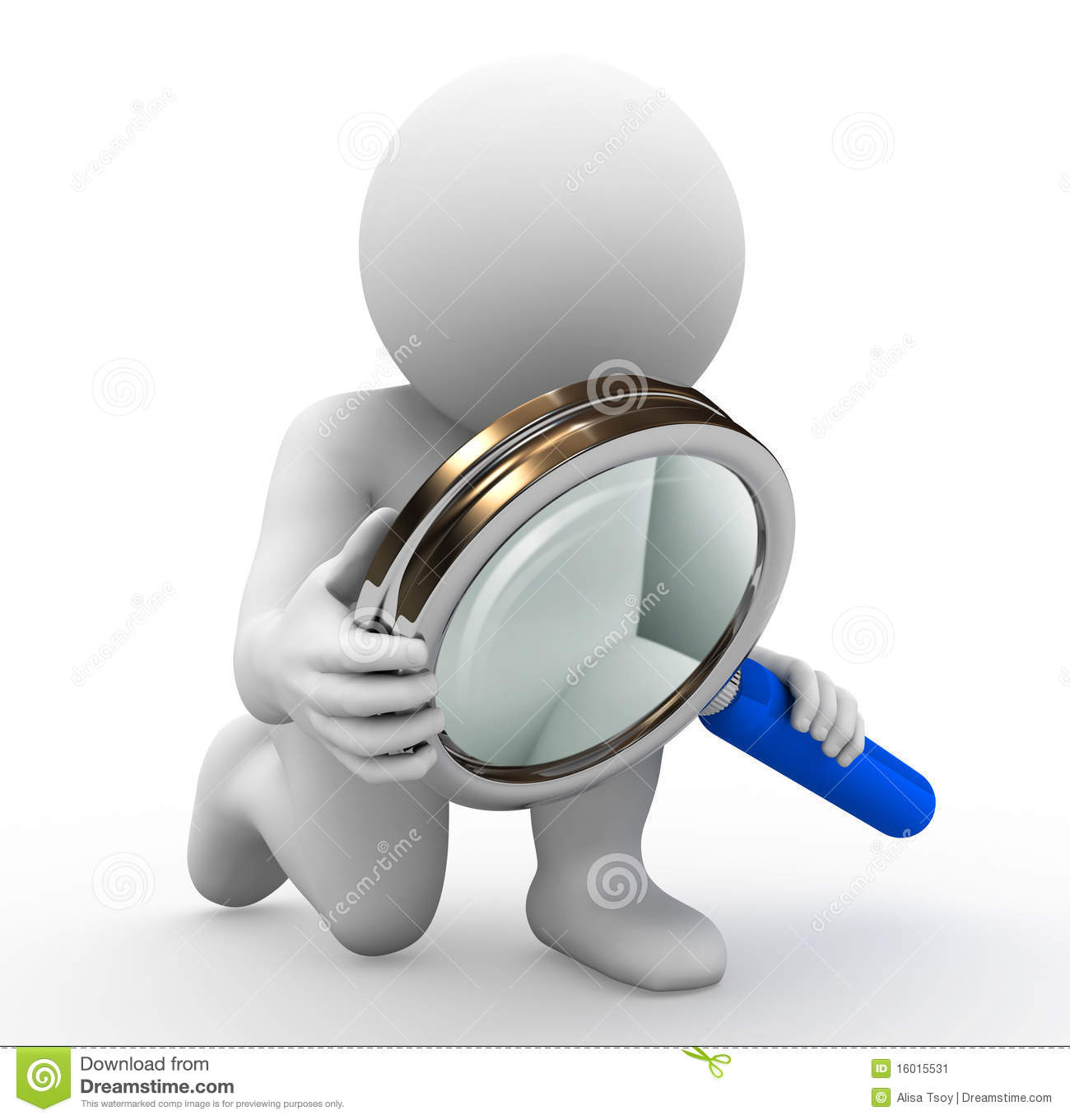 character and magnifying glass stock illustration illustration of
