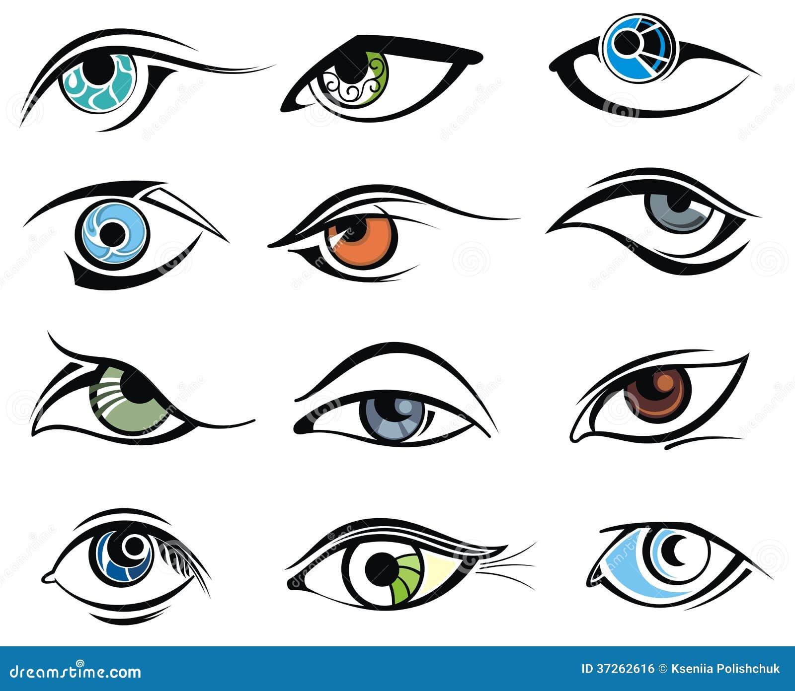 Character Design Eyes : Character set eyes royalty free stock image