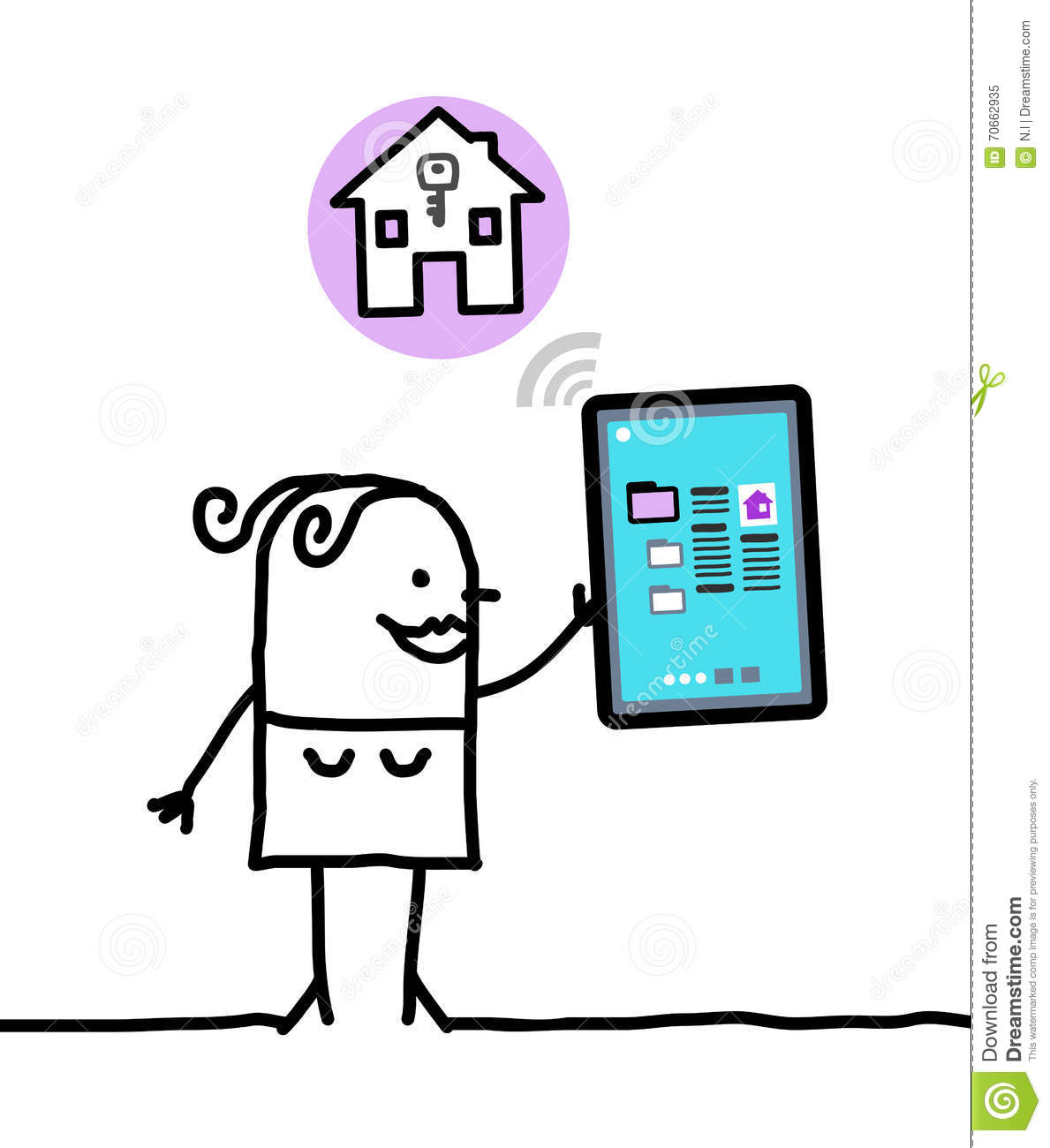Character with tablet - housing