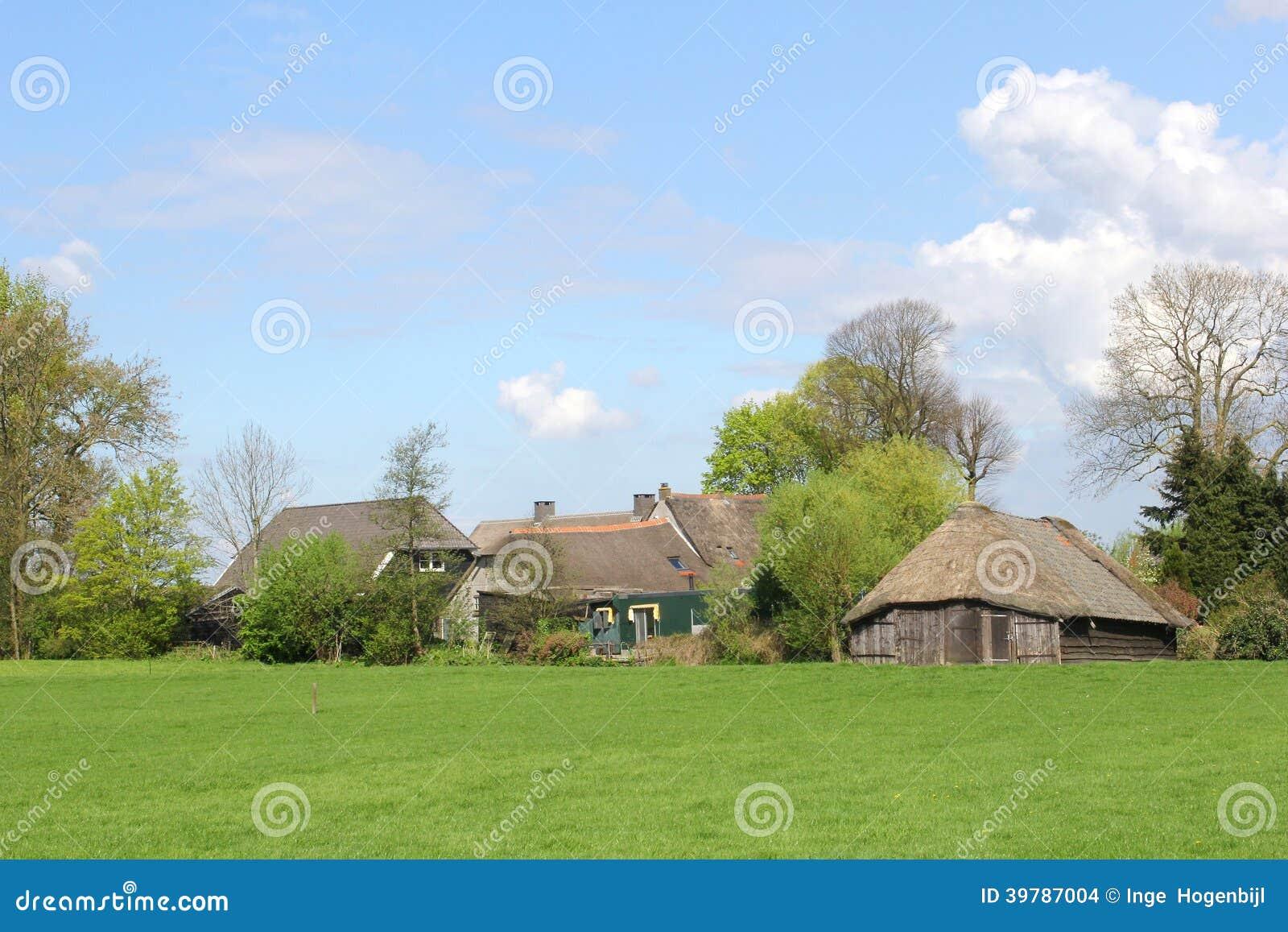 Characteristic Dutch Farm And Sheep Fold Eempolder Soest