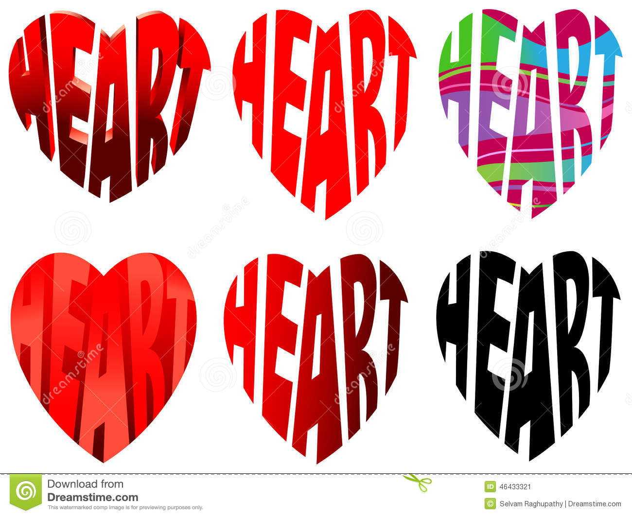 Characters Heart Stock Vector - Image: 46433321