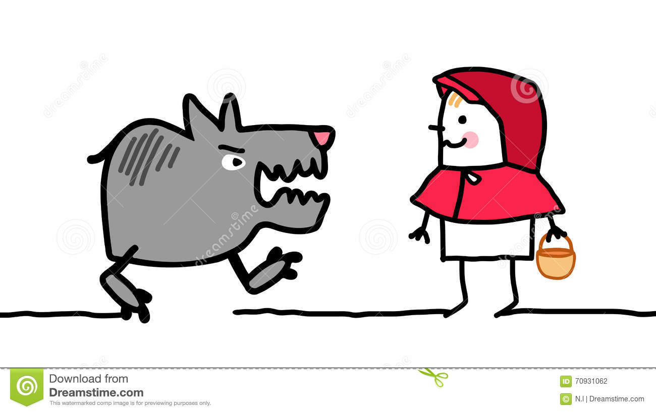 Cartoon Characters Hood : Characters little red riding hood stock vector image