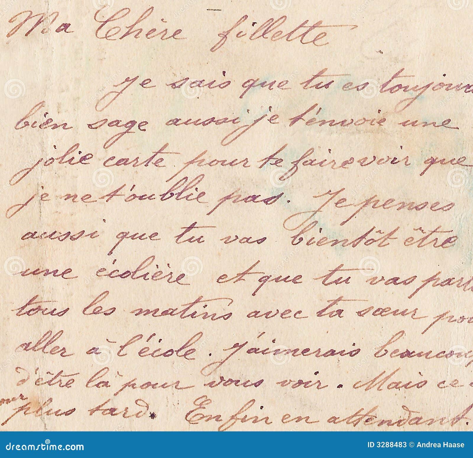 Zdjęcia stock charakter pisma stary francuski