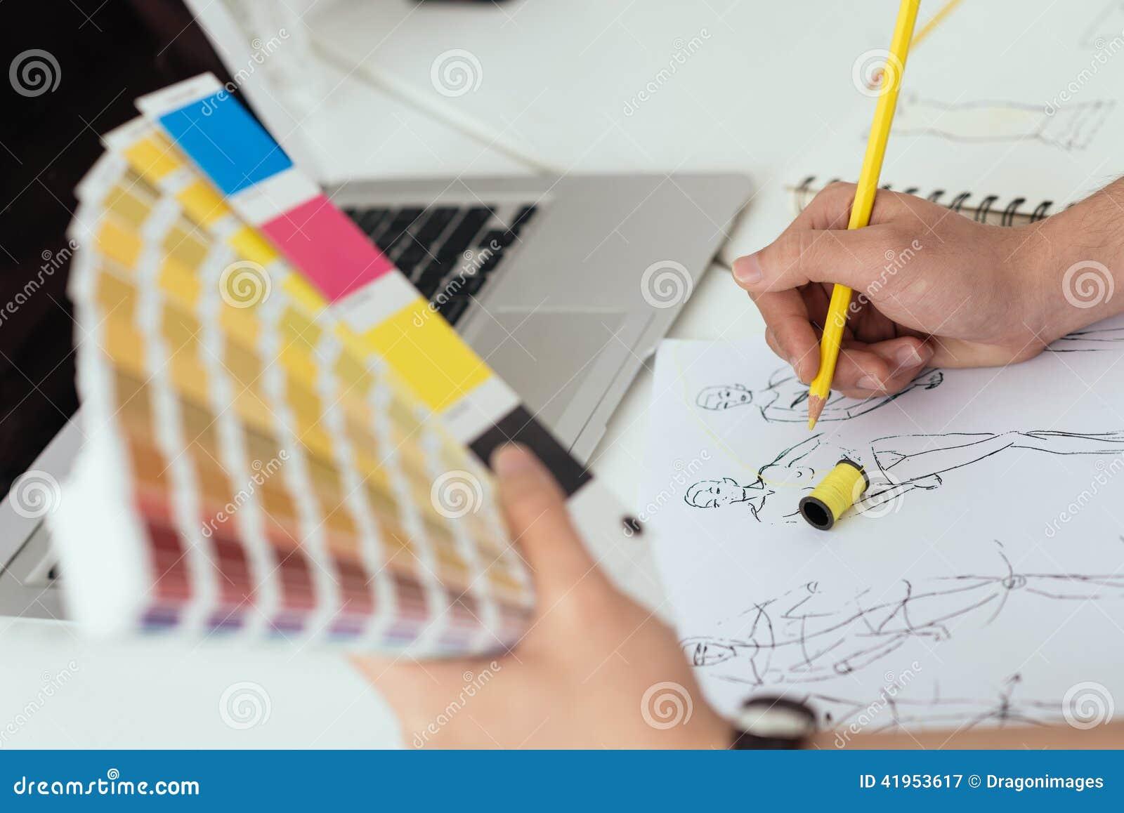 Charakterystyczny kolor druku prasy przemysłu obrazu pre próbki