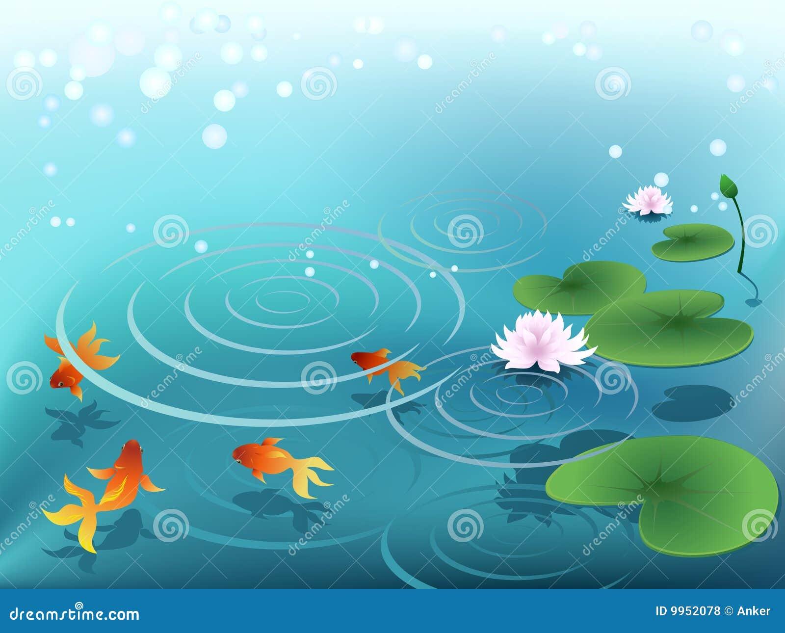 Charca con el goldfish
