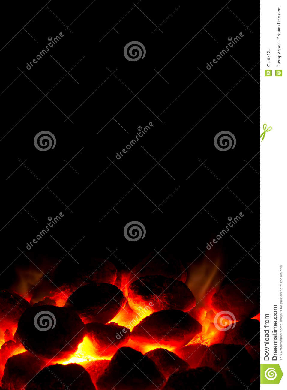 Charcoal fire ready for barbeque