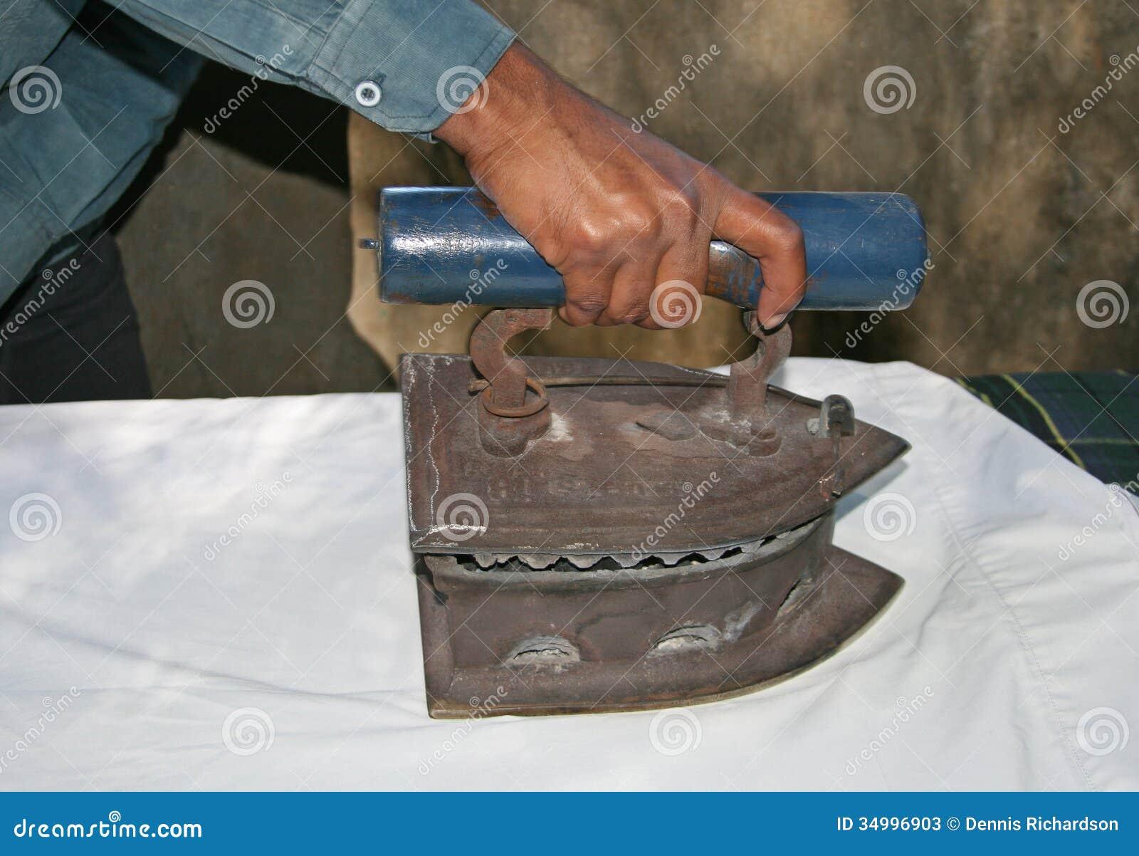 Charcoal iron stock image. Image of washing