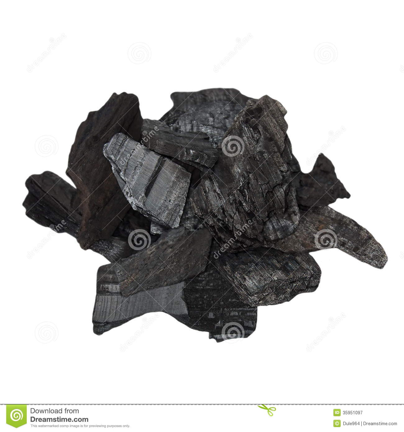 Charcoal Isolated On W...