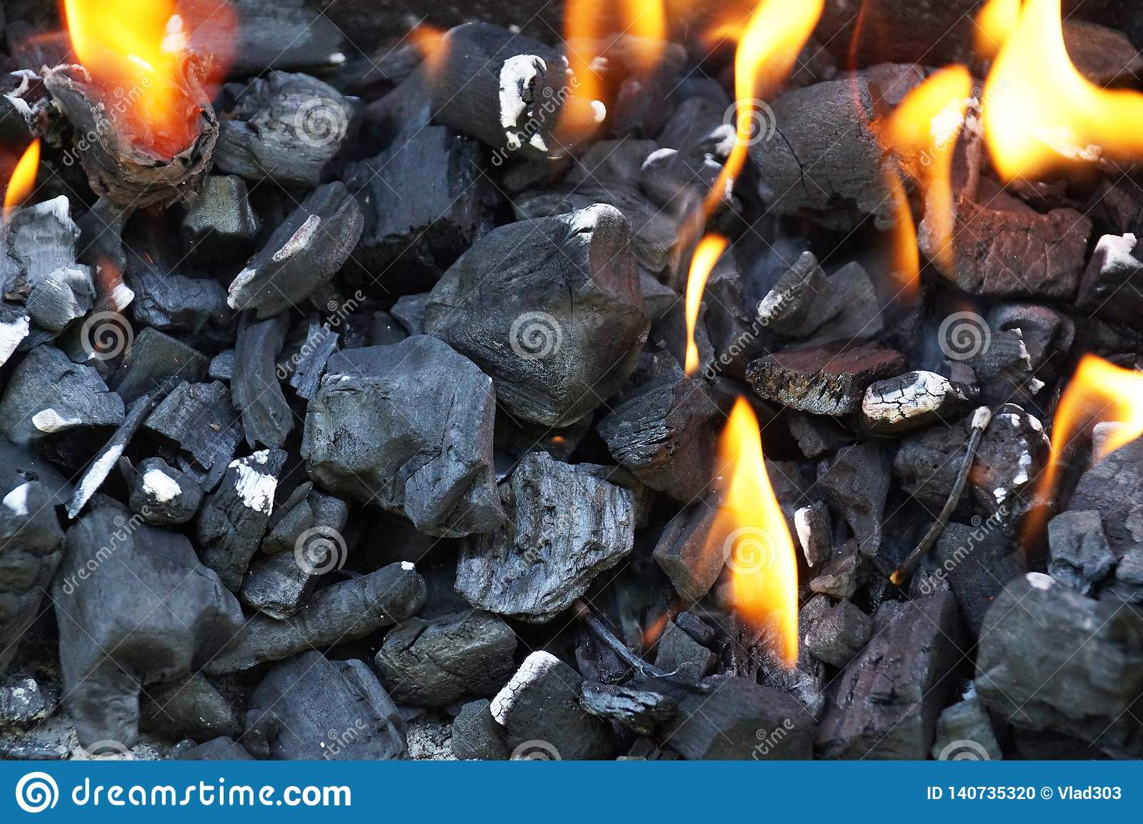 Charcoal During Lighting Up Lighting Fire In The Grill Stock Photo Image Of Charcoal Coal 140735320