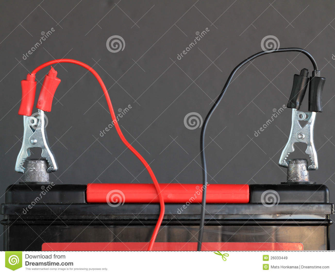 Charging car battery stock image. Image of jumper