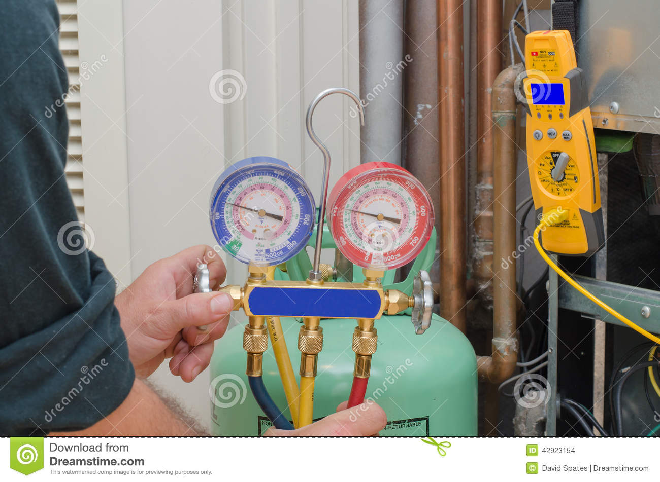 Charging Hvac System Stock Photo Image Of Conditioner