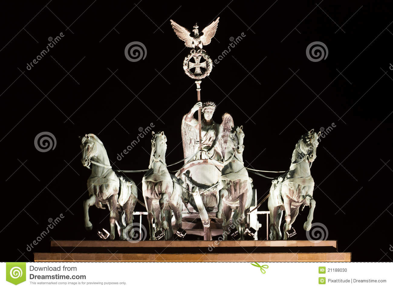 chariot brandenburg gate berlin germany stock photo