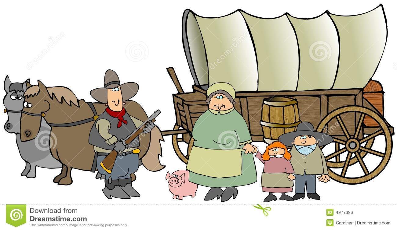 Chariot couvert illustration stock. Illustration du ...