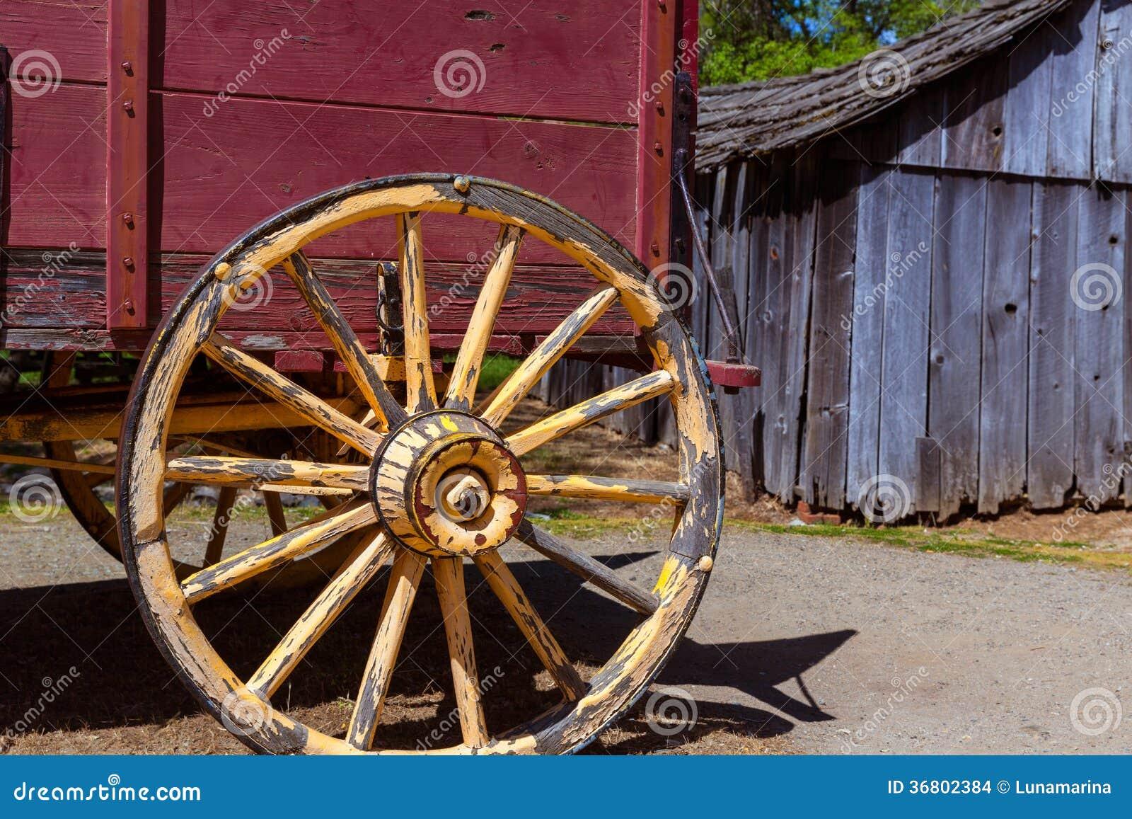 Chariot de la Californie Colombie dans une vieille ville occidentale de fièvre de l or