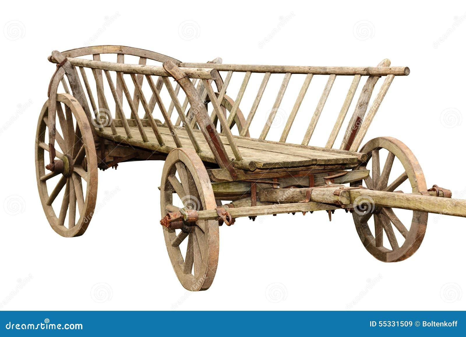 chariot en bois antique image stock image du v hicule 55331509. Black Bedroom Furniture Sets. Home Design Ideas