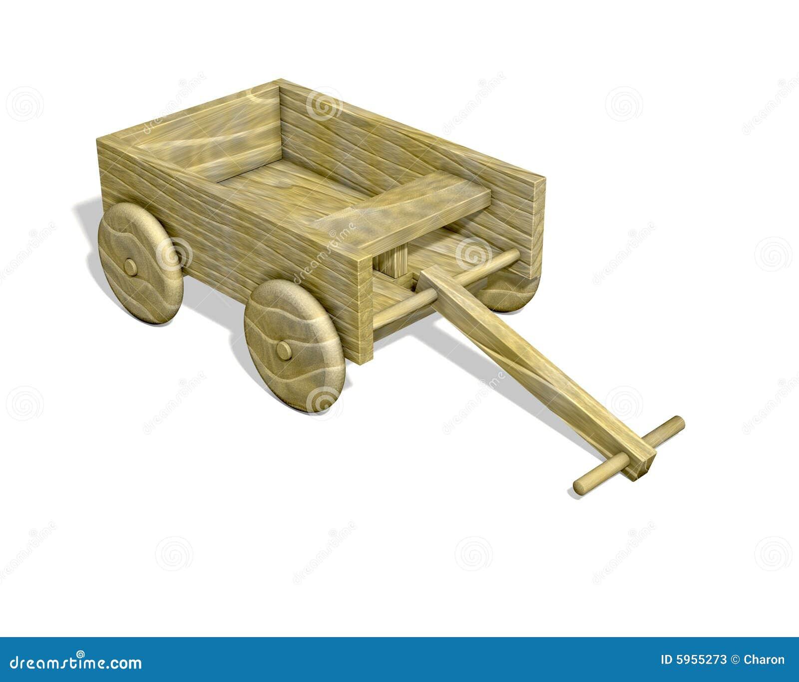 Chariot en bois d isolement