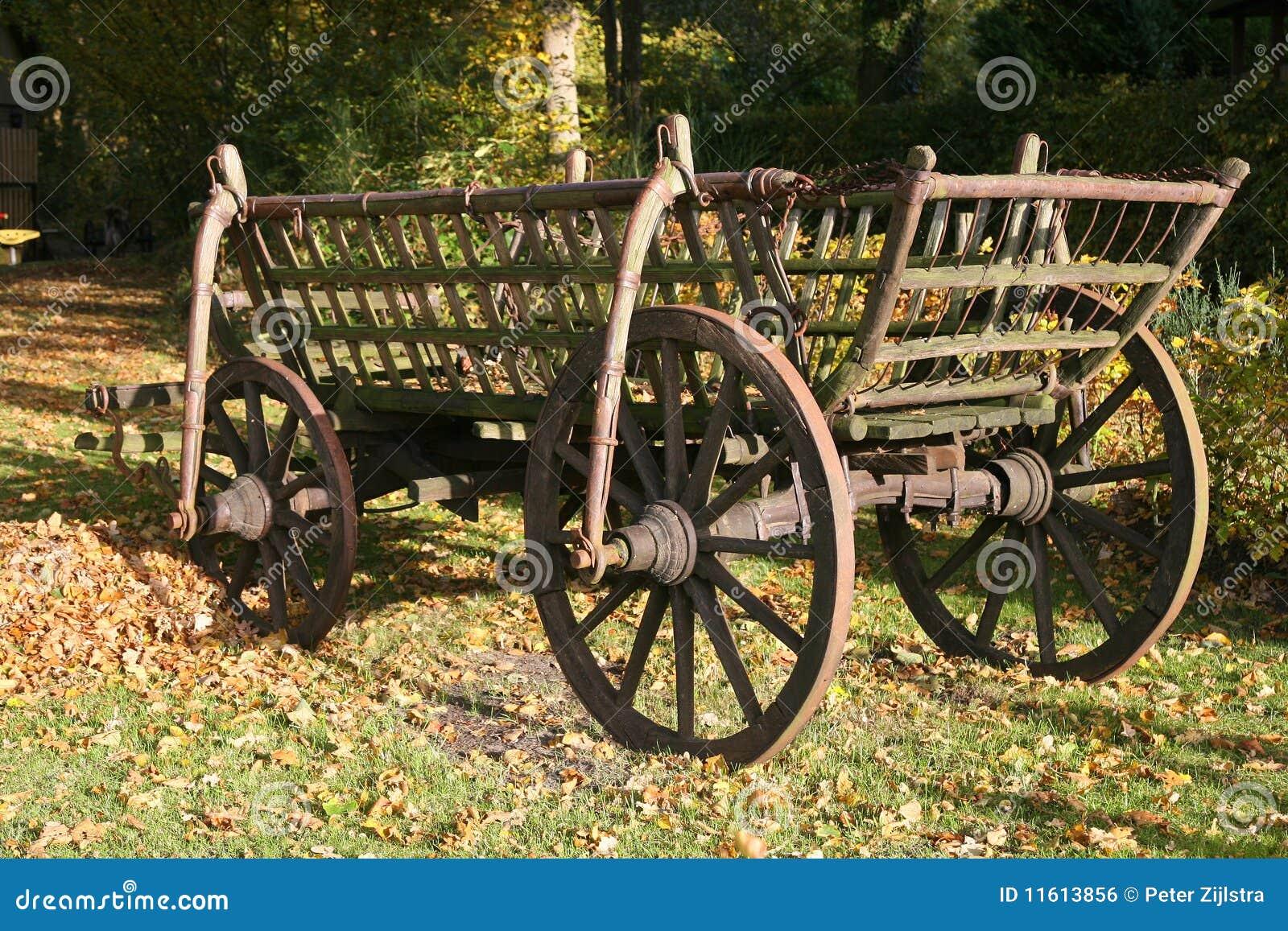chariot en bois de foin image libre de droits image 11613856. Black Bedroom Furniture Sets. Home Design Ideas