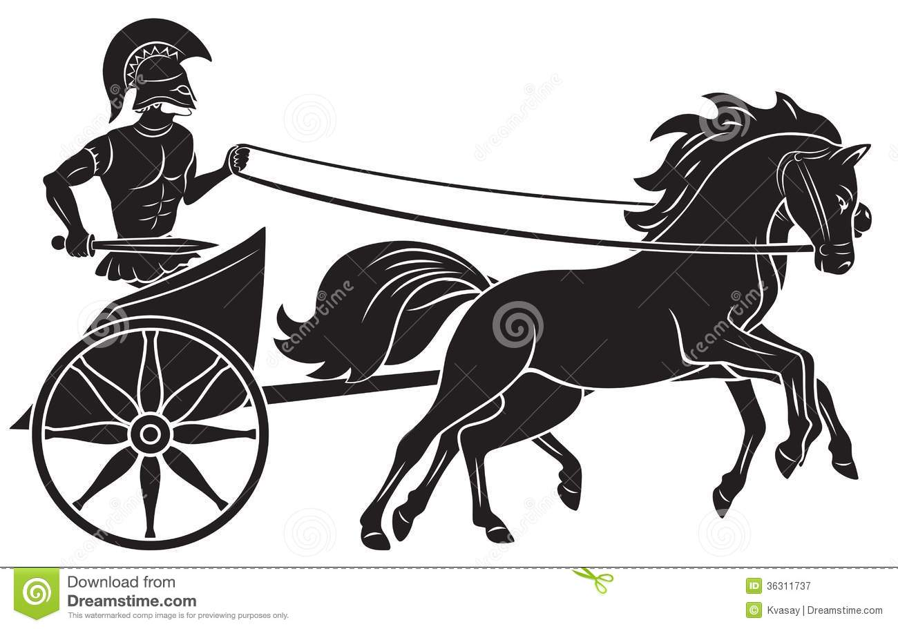 Chariot stock image. Image of painting, horse, meander