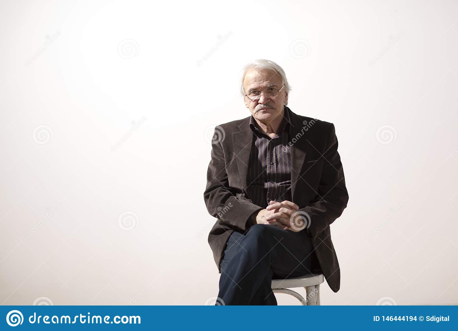 Charismatic man on a white background