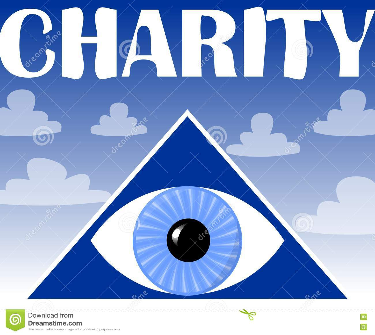 Charity flyer with a symbol of gods eye in triangle stock vector charity flyer with a symbol of gods eye in triangle buycottarizona