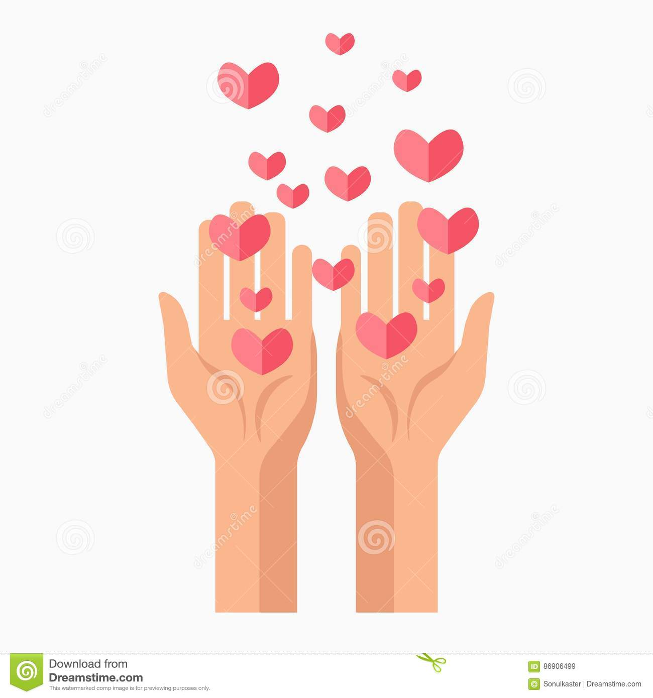 Charity hands and hearts blood donation vector template icon stock charity hands and hearts blood donation vector template icon buycottarizona Gallery