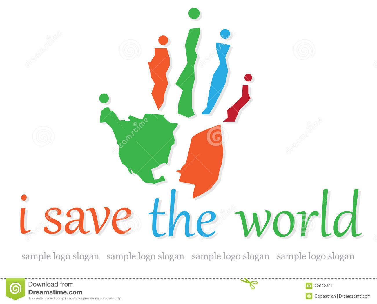 Charity Logo,world map ,hand,people symbol.