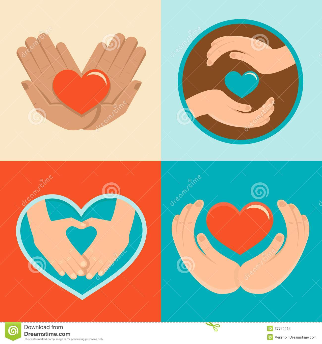 Symbol for volunteering gallery symbol and sign ideas charity and volunteer signs in flat style stock vector image charity and volunteer signs in flat biocorpaavc