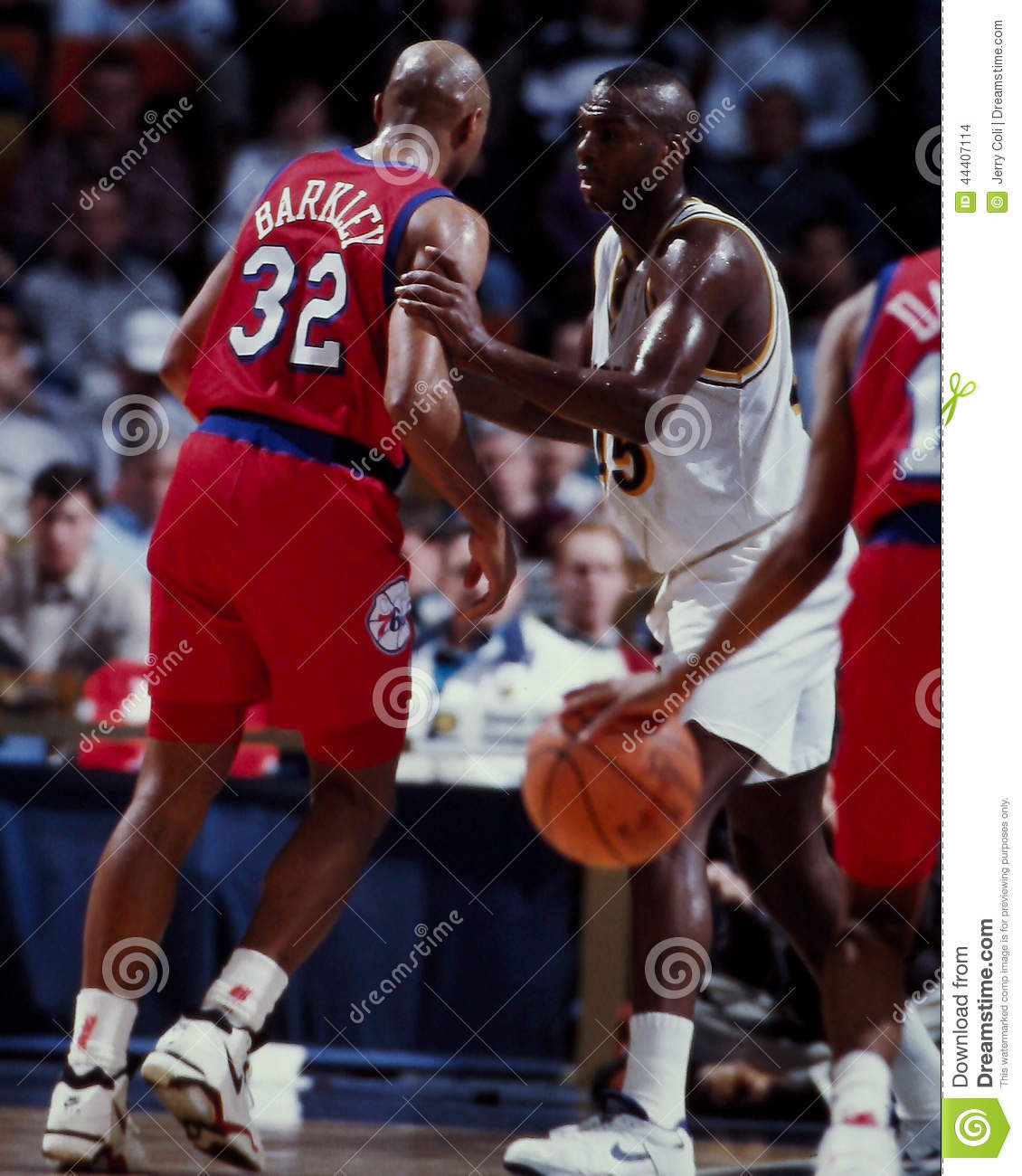 Charles Barkley And Chuck Person Editorial Stock Image Image